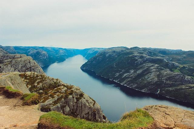 Naturskjønne fjorder i Norge